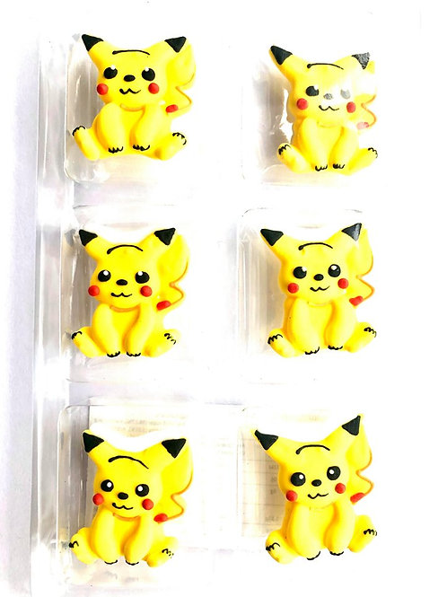 Pokemon Royal Icing Edible Decorations 6pc