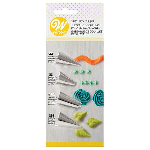Specialty Tip Set 4pc - Wilton