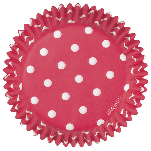 Red Dots Cupcake case or patty pan or baking cup