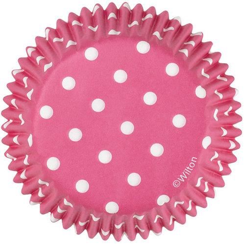Pink Dots Cupcake case or patty pan or baking cup
