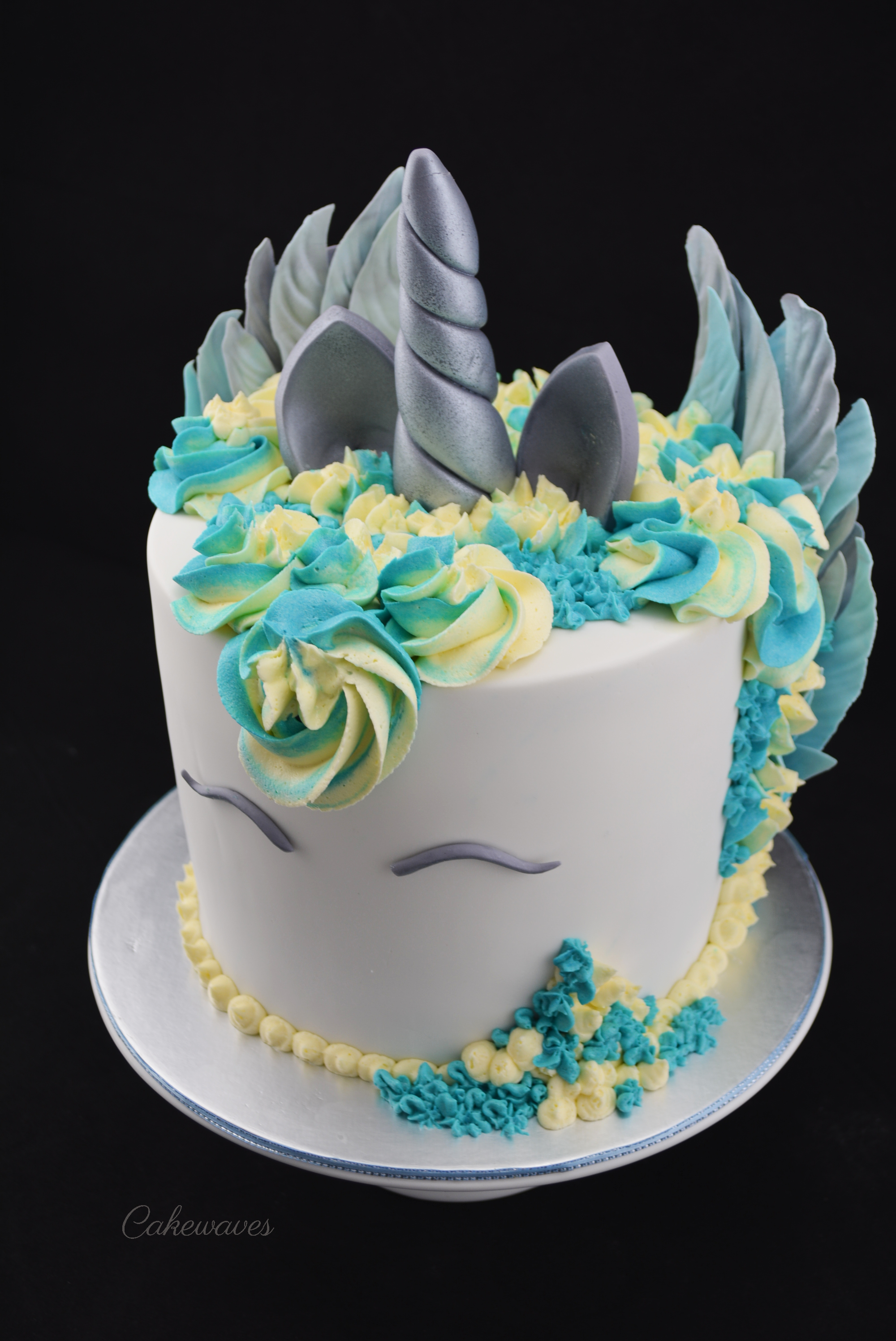 Blue wings Unicorn Cake