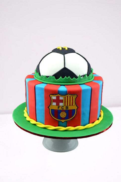 FCB Soccer Ball Birthday Cake