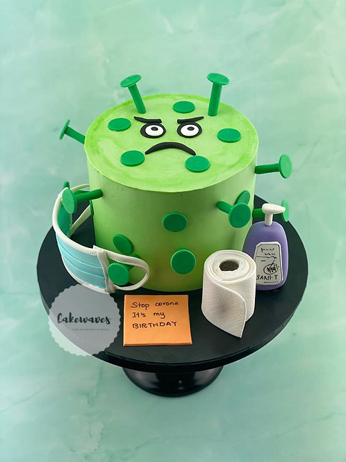 Corona Virus Awareness Birthday Cake