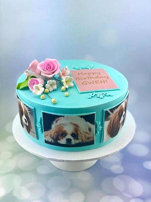 Dog Love Birthday Cake