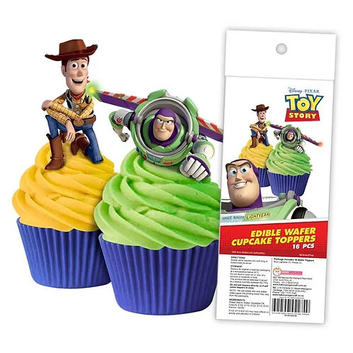 Toy Story Edible Wafer Cupcake Toppers  - 16pc