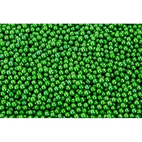4mm Edible Metallic Green Cachous Pearls 20g