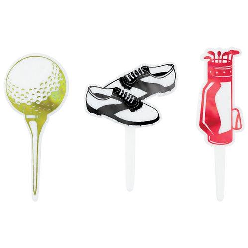 Golf Assortment Cupcake Picks - 9pcs