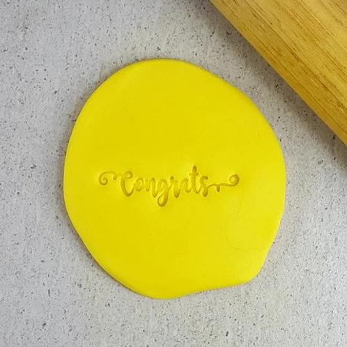 Congrats Cookie/ Fondant Embosser