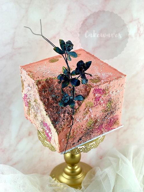 Modern Style Geode Wedding Engagement Cake