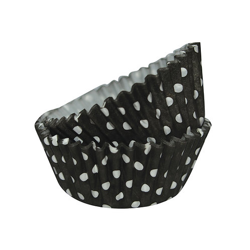 Mini Black Dots Baking Cups 50pc