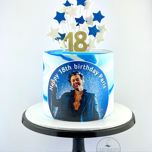 Special Star Spray Birthday Cake