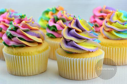 Rainbow Swirls - 12 Standard Size Cupcakes