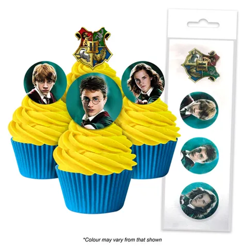 Harry Potter Edible Wafer Cupcake Toppers  - 16pc