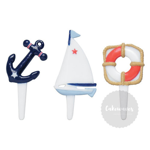 Nautical Cupcake Picks