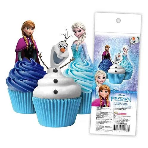 Disney Frozen Edible Wafer Cupcake Toppers  - 16pc