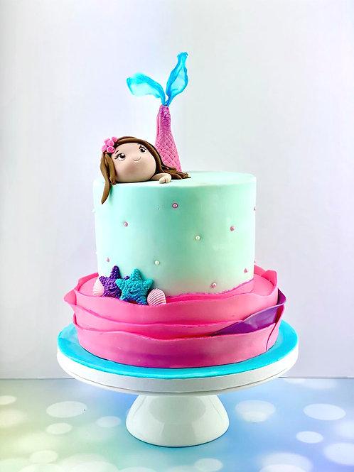 My Mermaid Girl Birthday Cake