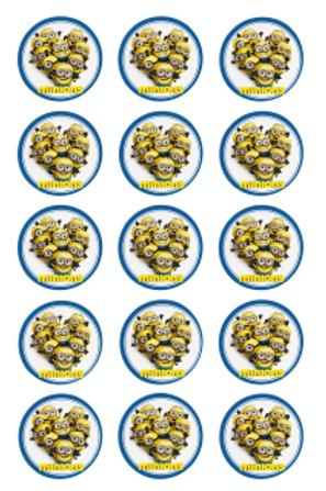 Minions Edible Image Style1 - Cupcake cirles 2 inch