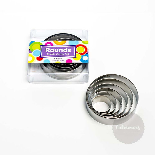 Round 6pc Stainless Steel Cookie Cutter