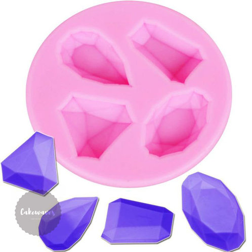 Jewels 4 Cavity Silicone Mould