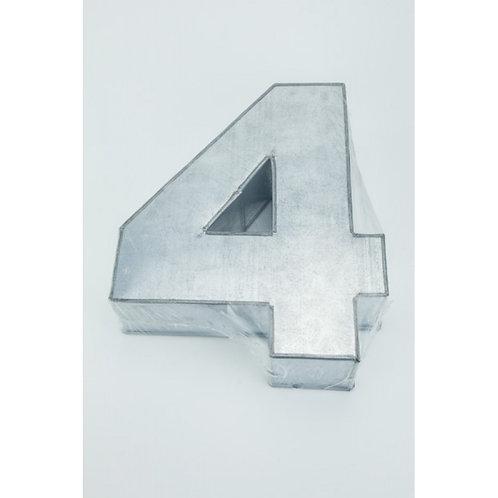 NUMBER FOUR - 4 - CAKE TIN - PAN - HIRE
