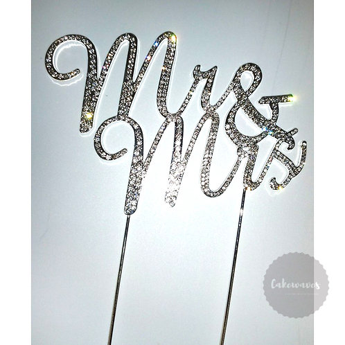 Diamante Mr&Mrs Cake Topper