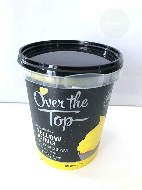 Over the Top Yellow Buttercream Icing