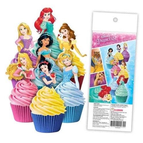 Disney Princess Edible Wafer Cupcake Toppers  - 16pc
