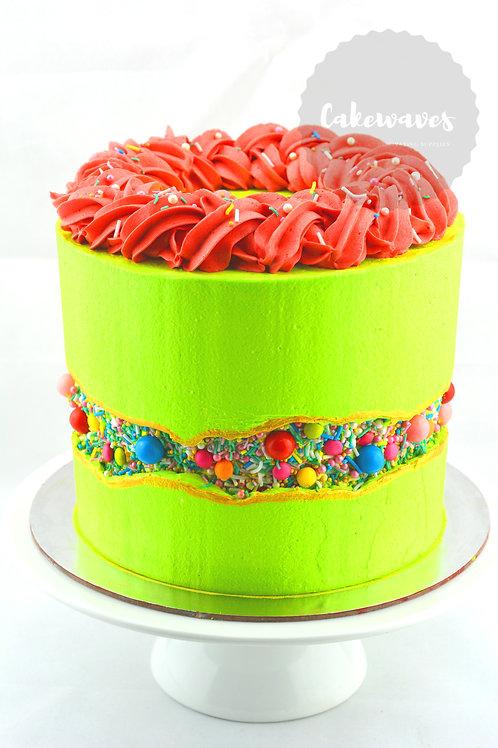 Buttercream Faultline Sprinkle Cake Class