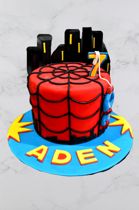 Spiderman Birthday Cake - Style 2