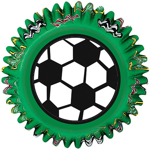 Standard Soccer Cupcake case or patty pan or baking cups
