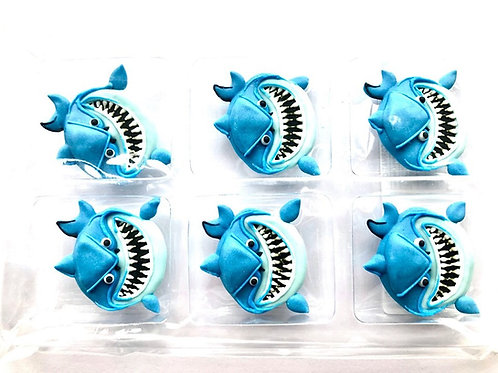 Shark Royal Icing Edible Decorations 6pc