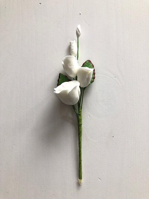 White Rose Flower Spray - Small