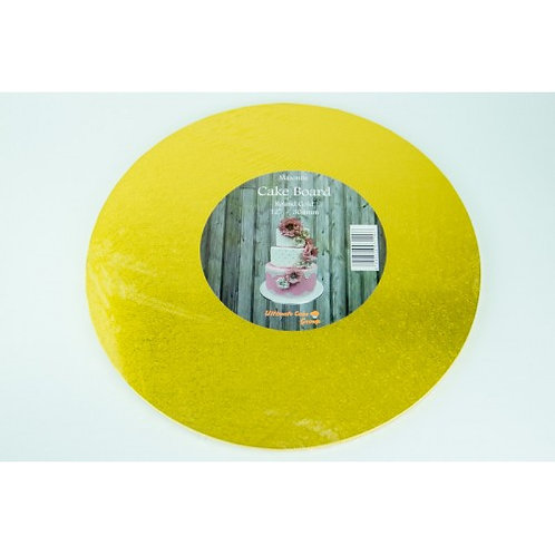 Masonite Round Gold Cake Board - 16 inch