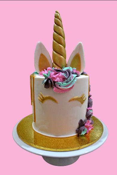 Fondant Unicorn Birthday Cake