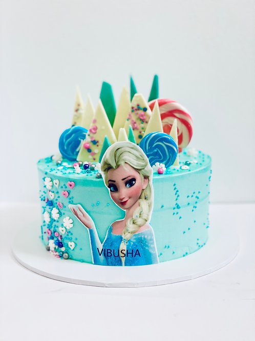 Frozen Elsa Character Birthday Cake - Style2