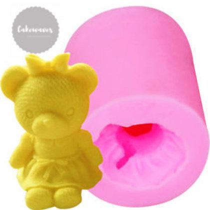3D Teddy Bear Girl Silicone Moluld