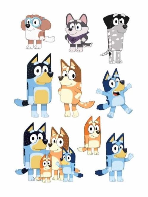 Bluey Characters Edible Image - A4