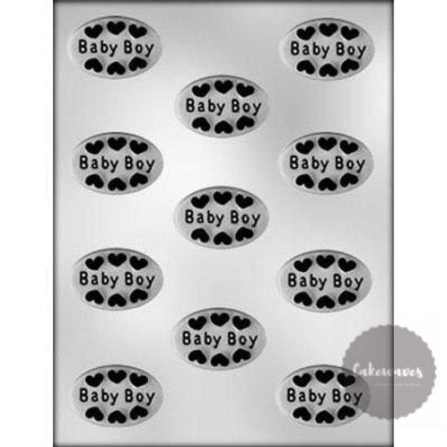 Baby Boy Oval Mint 11 Cavity Chocolate Mould