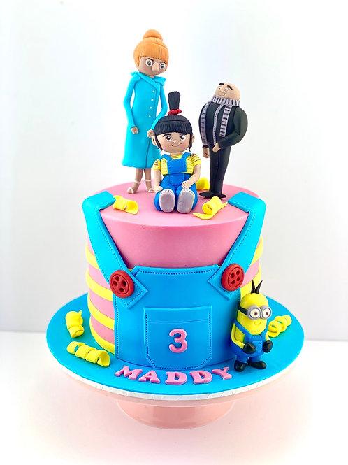 Despicable Me Birthday Cake - Fondant