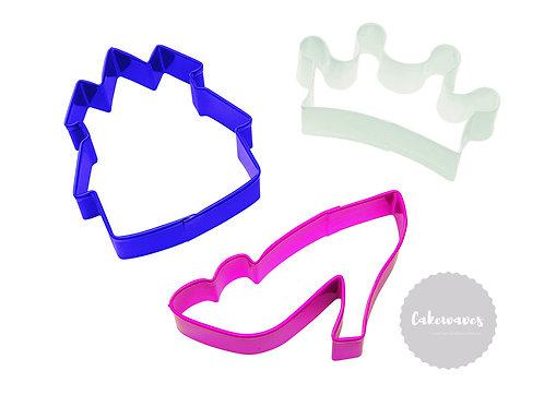 3 Piece Princess Cookie Cutter Set - Wilton