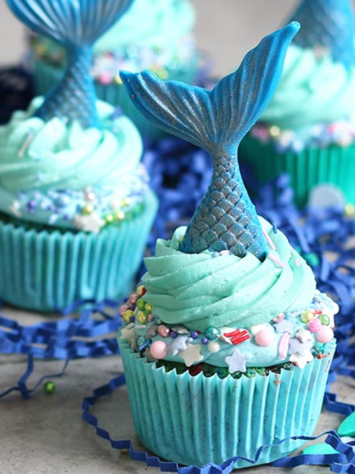 Mermaid Cupcake Decorating Class for KIDS