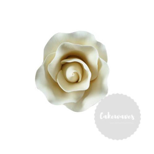 White Rose Edible Sugar Flower Medium 5cm