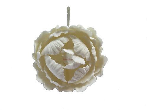 Peony White 10cm Edible Sugar Flower