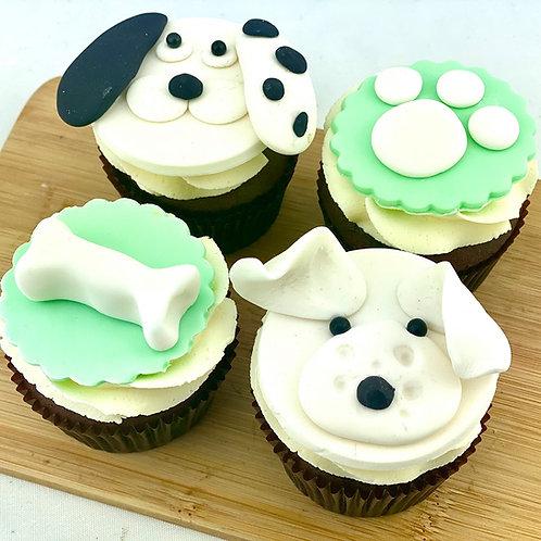 I Love My Dog - 12 Standard Size Cupcakes