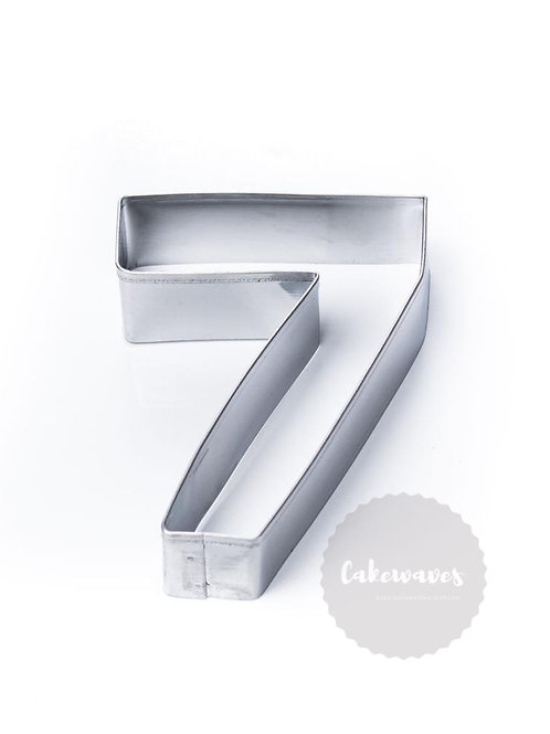 Number 7 Stainless Steel Cookie Cutter