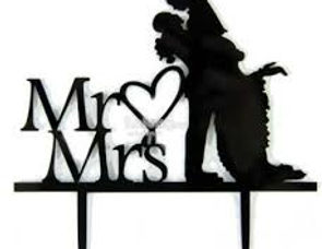 Acrylic Black Cake Toppers