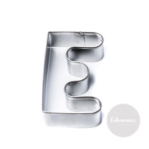 Letter E Stainless Steel Cookie Cutter