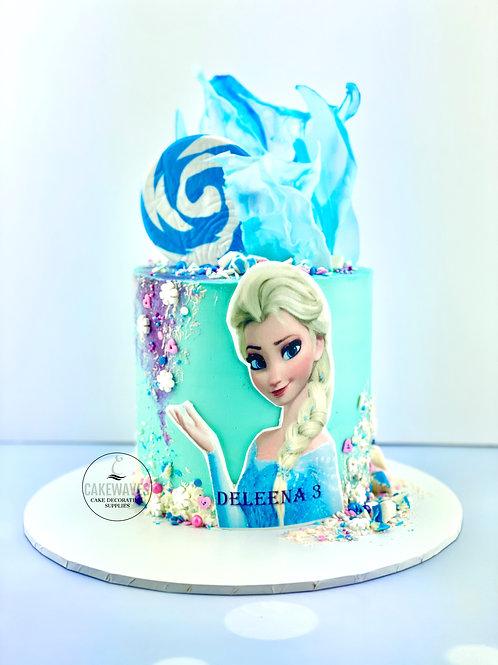Frozen Elsa Character Birthday Cake