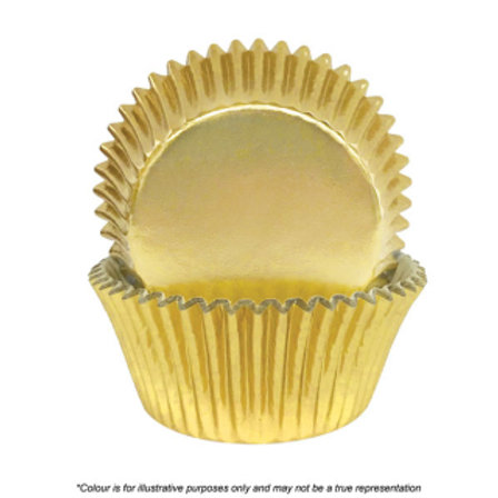 Foil Cupcake Cases / Baking Cups 72pc - Gold