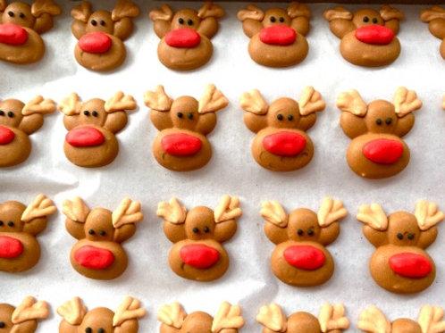 Reindeer Royal Icing Decals - 3pc
